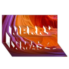 Antelope Canyon 2 Merry Xmas 3d Greeting Card (8x4)  by trendistuff