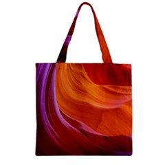 Antelope Canyon 2 Zipper Grocery Tote Bags by trendistuff