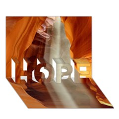 Antelope Canyon 1 Hope 3d Greeting Card (7x5)  by trendistuff