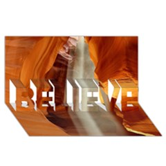 Antelope Canyon 1 Believe 3d Greeting Card (8x4)  by trendistuff