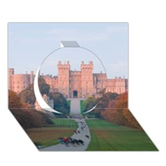 Windsor Castle Circle 3d Greeting Card (7x5)
