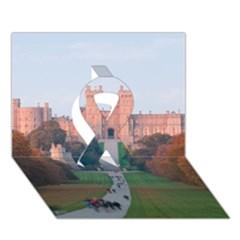 Windsor Castle Ribbon 3d Greeting Card (7x5)
