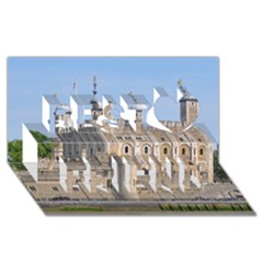 Tower Of London 2 Best Friends 3d Greeting Card (8x4)