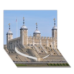 Tower Of London 2 Heart Bottom 3d Greeting Card (7x5)