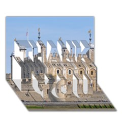 Tower Of London 2 Thank You 3d Greeting Card (7x5)