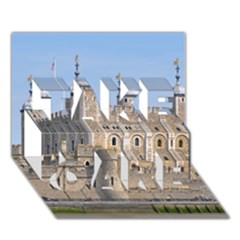 TOWER OF LONDON 2 TAKE CARE 3D Greeting Card (7x5)  by trendistuff