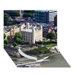 Tower Of London 1 Circle Bottom 3d Greeting Card (7x5)
