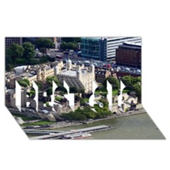 Tower Of London 1 Best Sis 3d Greeting Card (8x4)