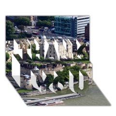 Tower Of London 1 Thank You 3d Greeting Card (7x5)  by trendistuff