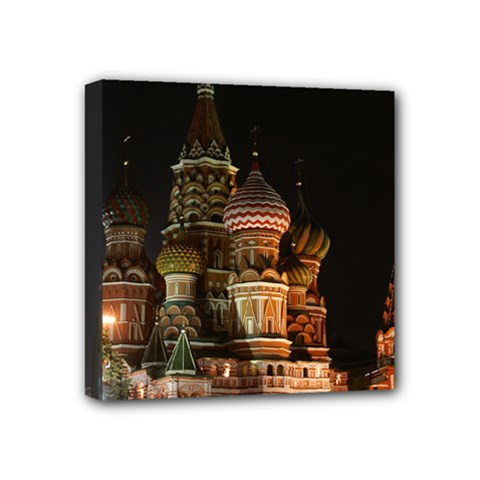 St Basil s Cathedral Mini Canvas 4  X 4  by trendistuff