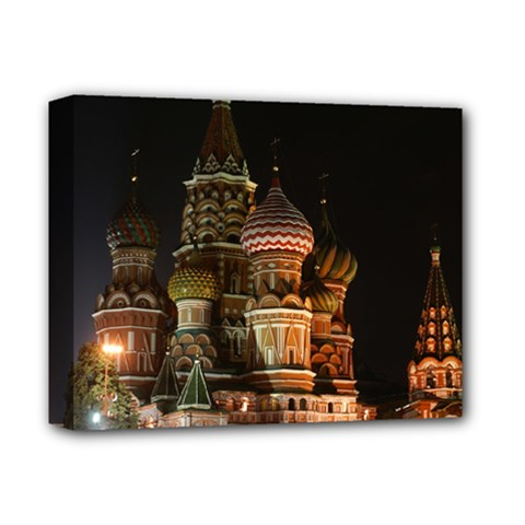 St Basil s Cathedral Deluxe Canvas 14  X 11  by trendistuff