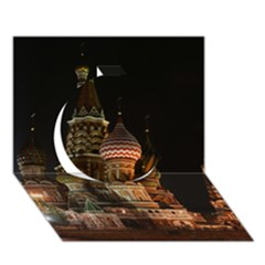 St Basil s Cathedral Circle 3d Greeting Card (7x5)  by trendistuff
