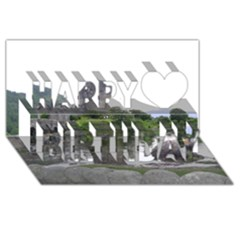 Scotland Eilean Donan Happy Birthday 3d Greeting Card (8x4)