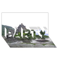 Scotland Eilean Donan Party 3d Greeting Card (8x4)  by trendistuff