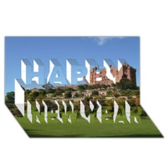 Powis Castle Terraces Happy New Year 3d Greeting Card (8x4)  by trendistuff