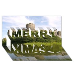 Pembroke Castle Merry Xmas 3d Greeting Card (8x4)