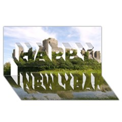 Pembroke Castle Happy New Year 3d Greeting Card (8x4)