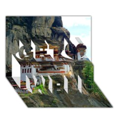 Paro Taktsang Get Well 3d Greeting Card (7x5)