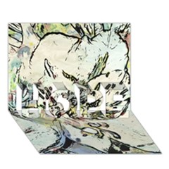 Art Studio 3216 Hope 3d Greeting Card (7x5)