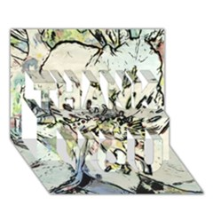 Art Studio 3216 Thank You 3d Greeting Card (7x5)  by MoreColorsinLife