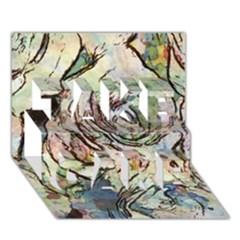 Art Studio 6216a Take Care 3d Greeting Card (7x5)