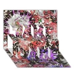 Art Studio 6216b TAKE CARE 3D Greeting Card (7x5)  by MoreColorsinLife