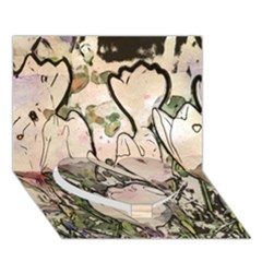 Art Studio 7216 Heart Bottom 3d Greeting Card (7x5)
