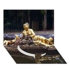 Palace Of Versailles 3 Circle Bottom 3d Greeting Card (7x5)  by trendistuff