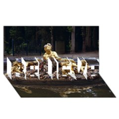Palace Of Versailles 3 Believe 3d Greeting Card (8x4)  by trendistuff