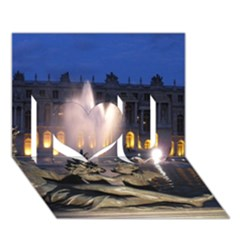 Palace Of Versailles 2 I Love You 3d Greeting Card (7x5)  by trendistuff
