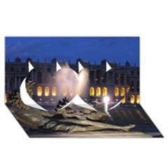 Palace Of Versailles 2 Twin Hearts 3d Greeting Card (8x4)  by trendistuff