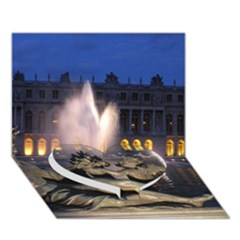 Palace Of Versailles 2 Heart Bottom 3d Greeting Card (7x5)  by trendistuff