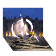 Palace Of Versailles 2 Peace Sign 3d Greeting Card (7x5)  by trendistuff
