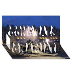 Palace Of Versailles 2 Congrats Graduate 3d Greeting Card (8x4)  by trendistuff