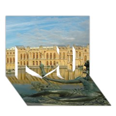 Palace Of Versailles 1 I Love You 3d Greeting Card (7x5)  by trendistuff