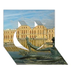 Palace Of Versailles 1 Heart 3d Greeting Card (7x5)  by trendistuff