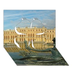 Palace Of Versailles 1 Clover 3d Greeting Card (7x5)  by trendistuff