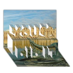 Palace Of Versailles 1 You Did It 3d Greeting Card (7x5) by trendistuff