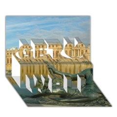 Palace Of Versailles 1 Get Well 3d Greeting Card (7x5)  by trendistuff