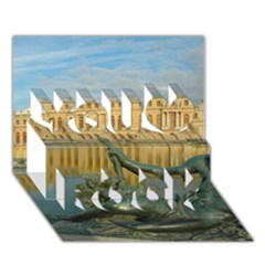Palace Of Versailles 1 You Rock 3d Greeting Card (7x5)  by trendistuff