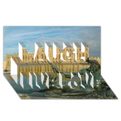 Palace Of Versailles 1 Laugh Live Love 3d Greeting Card (8x4)  by trendistuff