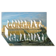 Palace Of Versailles 1 Congrats Graduate 3d Greeting Card (8x4)  by trendistuff