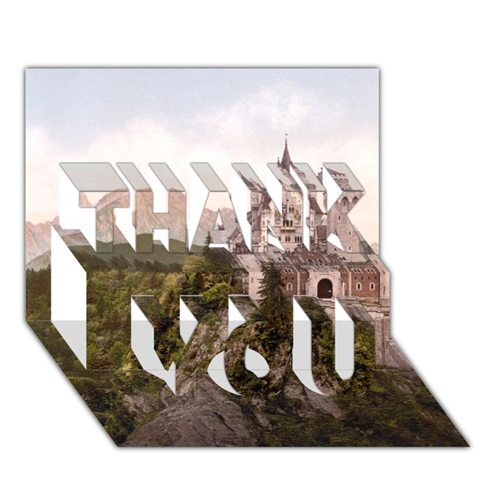 NEUSCHWANSTEIN CASTLE THANK YOU 3D Greeting Card (7x5)