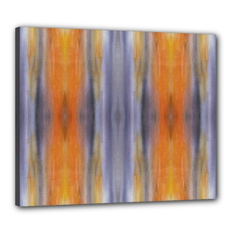 Gray Orange Stripes Painting Canvas 24  X 20
