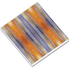Gray Orange Stripes Painting Small Memo Pads by Costasonlineshop