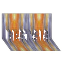 Gray Orange Stripes Painting BEST SIS 3D Greeting Card (8x4)  by Costasonlineshop