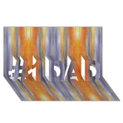 Gray Orange Stripes Painting #1 Dad 3d Greeting Card (8x4)  by Costasonlineshop