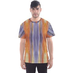 Gray Orange Stripes Painting Men s Sport Mesh Tees by Costasonlineshop