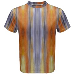 Gray Orange Stripes Painting Men s Cotton Tees by Costasonlineshop