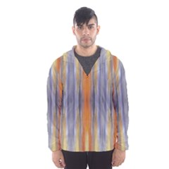 Gray Orange Stripes Painting Hooded Wind Breaker (men)